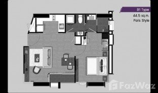 曼谷 曼甲必 The Capital Ekamai - Thonglor 1 卧室 房产 售